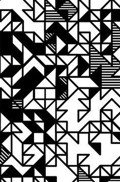 Motif géométrique noir et blanc de Camille Walala #geometric #blackandwhite #graphicdesign