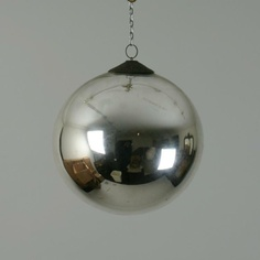 """Silvered """"witches ball"""". Hundreds (if not thousands) of pins of witches balls on Pinterest and only a handful of real ones. This one is real."""