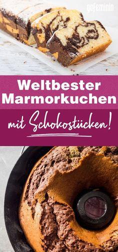 Marmorkuchen-Rezept mit Schokostücken: Super saftig! Crockpot French Toast, Cinnamon French Toast, Catering Food, Drip Cakes, Food Inspiration, Sweet Recipes, Baking Recipes, Bakery, Food And Drink