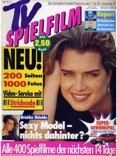 Brooke Shields covers Tv Spielfilm magazine ( Germany) 7-20 September 1991