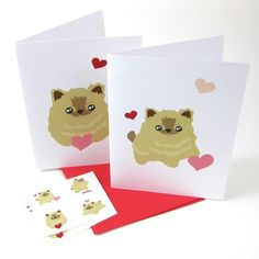 Check out this item in my Etsy shop https://www.etsy.com/listing/89801904/pomeranian-hugs-and-kisses-cards-and