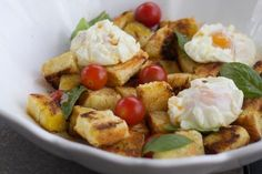 20 of Our Favorite Breakfast Egg Recipes: Bread Salad with Poached Eggs