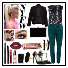 """""""New York Fashion Week: Contest Entry"""" by haybeebaby on Polyvore featuring Eggs, Waverly Grey, Theory, Charlotte Olympia, Lime Crime, Butter London, Christian Dior, Smashbox, Givenchy and Jaeger"""