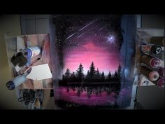 How to Spray paint PERFECT 3D planet and stars - Tutorial by Skech - YouTube