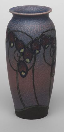 "Vase    Charles S. Todd (American, 1885–1950)     c. 1922. Glazed ceramic, 8 1/16 x 3 3/8"" (20.5 x 8.6 cm). Manufactured by Rookwood Pottery, Cincinnati, OH."