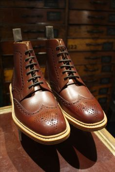 267c65651b20f Men's Loake boots. Naseby style. Oxblood grain calf leather, Goodyear  welted and handmade in England. Buy online with free shipping. Click link.