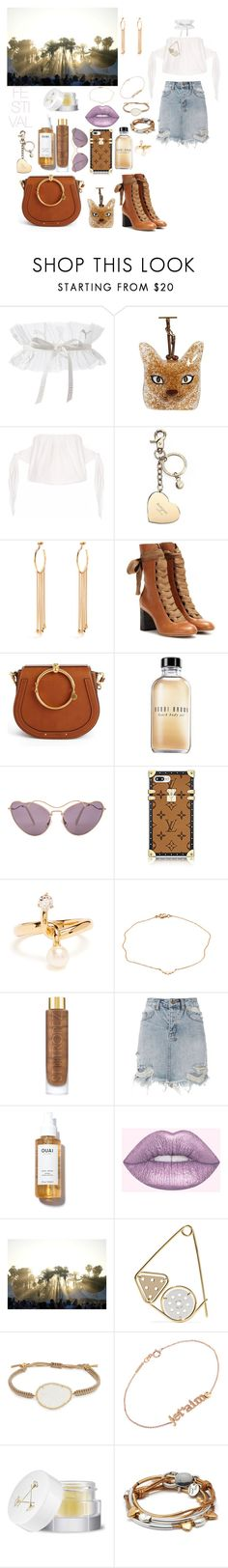 """Festival look"" by mylano ❤ liked on Polyvore featuring Puma, Loewe, Aspinal of London, Chloé, Bobbi Brown Cosmetics, Miu Miu, Mimata, St. Tropez, Ksubi and Lime Crime"