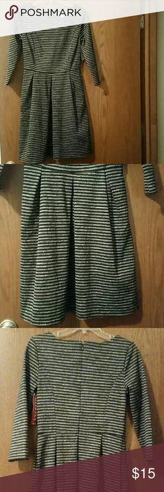 NWT Merona Stripped Dress Stunning NWT Merona Stripped dress. Perfect for Fall. Merona Dresses Long Sleeve
