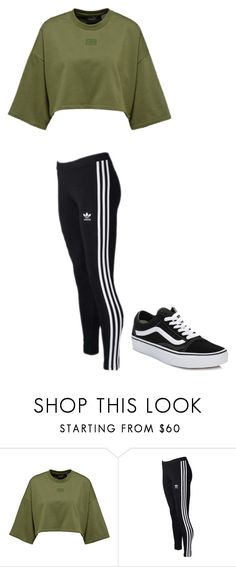 """Untitled #108"" by chelizey on Polyvore featuring adidas Originals and Vans"