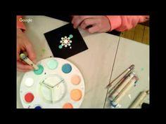 Orange & Turquoise Dot Mandala Painting - YouTube