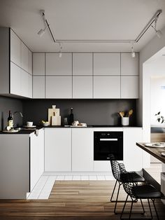 Best 7 Awesome Minimalist Kitchen Sets That Make the Kitchen More Beautiful Maybe there is no other room that is most important for housewives compared to favorite kitchens. It doesn't hurt if you pay more attention to kitchen. Kitchen Sets, Kitchen Dining, Kitchen Decor, Kitchen Wood, Loft Design, Küchen Design, House Design, Design Ideas, Modern Kitchen Interiors