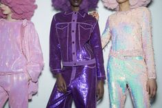 The sultan of sequins sent a glittering rainbow of afro-wearing disco babes down the runway, celebrating diversity in a playful and colorful spectacle.