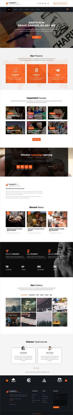 Charity plus is a wonderful 5in1 responsive #HTML bootstrap template for #nonprofit, crowdfunding and #charity websites download now➩ https://themeforest.net/item/charity-plus-nonprofit-crowdfunding-charity-html5-template/19436406?ref=Datasata