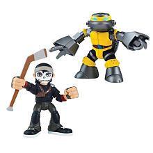 Teenage Mutant Ninja Turtles 2.5 inch Action Figure 2 Pack - Metalhead and Casey Jones