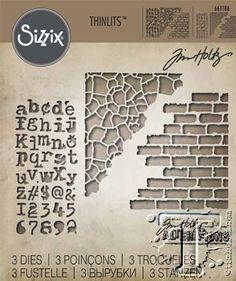 Sizzix Thinlits 3PK Mixed Media #3 by Tim Holtz 661186