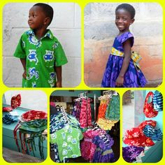 Hand-Batiked little girls dresses, little boys shirts, sunhats, bibs, and booties have all arrived from Global Mamas in Ghana!