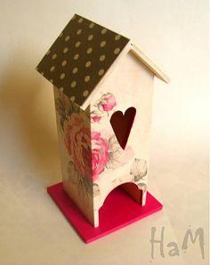 HaM / Domček Pink Rose Ham, Bird, Rose, Outdoor Decor, Handmade, Home Decor, Pink, Hand Made, Decoration Home