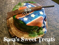 Rebel Flag/Camo cake