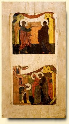 Annunciation and Presentation of Mary in the Temple - exhibited at the Temple Gallery, specialists in Russian icons