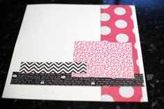 Before (Jan 25 2012). And the second starting point has a white cardstock background, plus patterned papers by KI Memories, Doodlebug and Echo Park. The tall column is 3×12, the longest horizontal strip is about 1×11, plus a smaller strip at 1×5 and a 4×5ish box. If you're going to scrap a 4×6 photo on this page, you might want to increase the size of the box to become a photo mat.