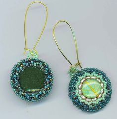 Beaded/ Beadwoven Light Green Earrings. Luminous by enchantedbeads, $59.00