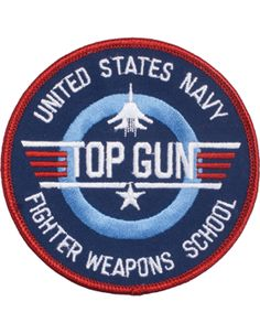 """United States Navy Fighter Weapons School Round Patch 3"""""""