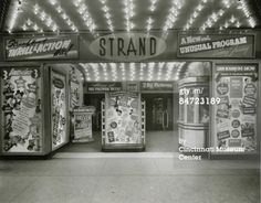 Strand Theater- 529-535 Walnut Street, Cincinnati.    Built as the Gayety Family Burlesque Theater in 1913 changed over silent movies in 1914 and changed its name at that time. It maintained the Strand name, converting to sound films when that era arrived.    Starting in 1942, it became a newsreel theater as the Telenews and remained as such until 1946, when it reverted to the Strand name once again. It was demolished in 1950 to make way for the current Fountain Square location.