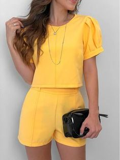 New party outfit frauen shorts Ideas Mode Outfits, Short Outfits, Fashion Outfits, Fashion Trends, Casual Dresses, Casual Outfits, Summer Outfits, Love Fashion, Womens Fashion