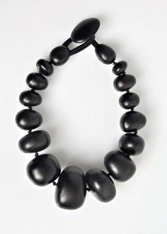 Monies Ebony Pebble Necklace   Architect's Fashion
