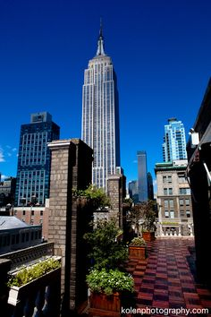 View of the Empire State Building from the Midtown Loft & Terrace event space in NYC