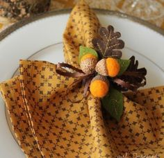 НАША СТРАНА МАСТЕРОВ: Декор салфетки- желуди из шерсти и фетра