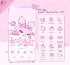 Galaxy Theme, Pink Rabbit, Messages, Text Conversations