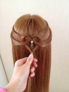 peinado corazon