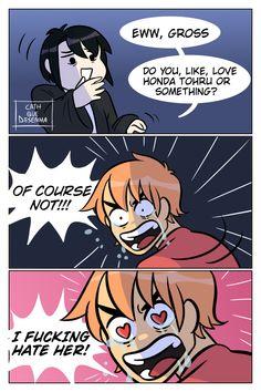 Fruits Basket Funny, Fruits Basket Quotes, Fruits Basket Cosplay, Fruits Basket Manga, Anime Couples Manga, Cute Anime Couples, Cute Anime Pics, I Love Anime, Anime Kiss