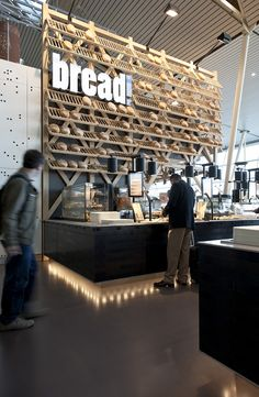 r last-minute gifts in Amsterdam's Schiphol airport need not venture far – a new space includes a cheese counter, bread shop, restaurant, plus flower store in one area. Exuding a quintessentially Dutch vibe, the project is rooted in Restaurant Design, Bakery Shop Design, Architecture Restaurant, Hotel Restaurant, Cafe Design, Store Design, Wood Design, House Design, Cafe Bar