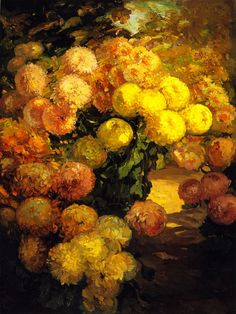The Athenaeum - Chrysanthemums (Franz Bischoff - )