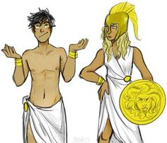 "Percabeth as their godly parents<< Annabeth looks so pissed at percy like ""Gods dammit Percy this is your fault"""