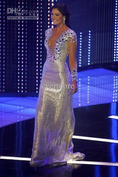 Miss Universe Pageant Evening Dress Luxury Sequins Crystal Long Prom Party Gowns Evening Dresses Online, Long Sleeve Evening Dresses, Cheap Evening Dresses, Mermaid Evening Dresses, Celebrity Inspired Dresses, Celebrity Dresses, Celebrity Style, Dress Luxury, Champagne Evening Dress