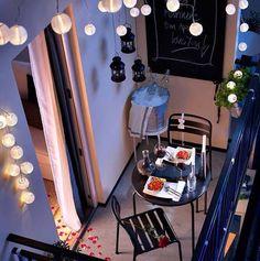 Guirnaldas en la terraza - White Paper Lantern String Lights