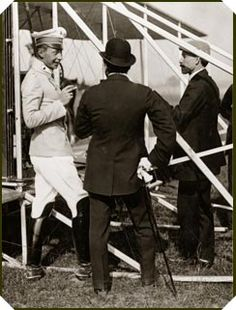 October 2, 1909. Crown Prince Friedrich Wilhelm of Germany is the first member of a royal family to fly with Orville Wright.