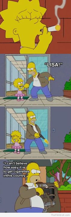 Funny scene from The Simpsons