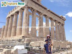 Brad and Kaiya at the Parthenon in Athens, Greece. Parthenon Athens, Athens Greece, Louvre, Europe, Explore, World, Travel, Viajes, Parthenon