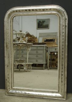 Antique French Mirror - Silver Louis Philippe mirror from www,jasperjacks.com