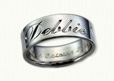 Personalized Wedding Rings in gold and platinum