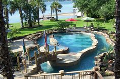 i would never get out. i just want a lazy river that goes completely around my backyard and then inside to swing by the bar and grab a beer :)