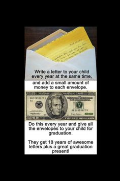 Gift idea for the future. Wish my kids weren't already grown! Maybe give this idea to someone at their baby shower!
