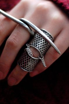 #romwe love this ring. #double #ring #joint #tassel #silver #jewelry