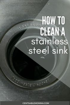 Does it seem like your kitchen sink is always dirty? Check out these tricks for how to clean {and polish} a stainless steel sink making it shiny again using natural ingredients that you already have around the house. #cleaninghacks #bakingsoda #cleansink #shinysink Cleaning Products, Cleaning Hacks, Stainless Steel Sinks, Spring Cleaning, Kitchen Sink, Dan, Household, Polish, Natural