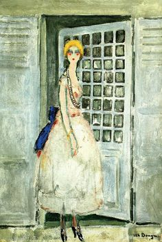 Kees van Dongen, Femme devant une porte, 1925