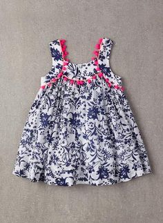 Nellystella Clementine Dress in Floral Motif - FINAL Girls Frock Design, Baby Dress Design, Baby Girl Dress Patterns, Baby Girl Frocks, Frocks For Girls, Little Girl Dresses, Toddler Dress, Toddler Outfits, Kids Outfits